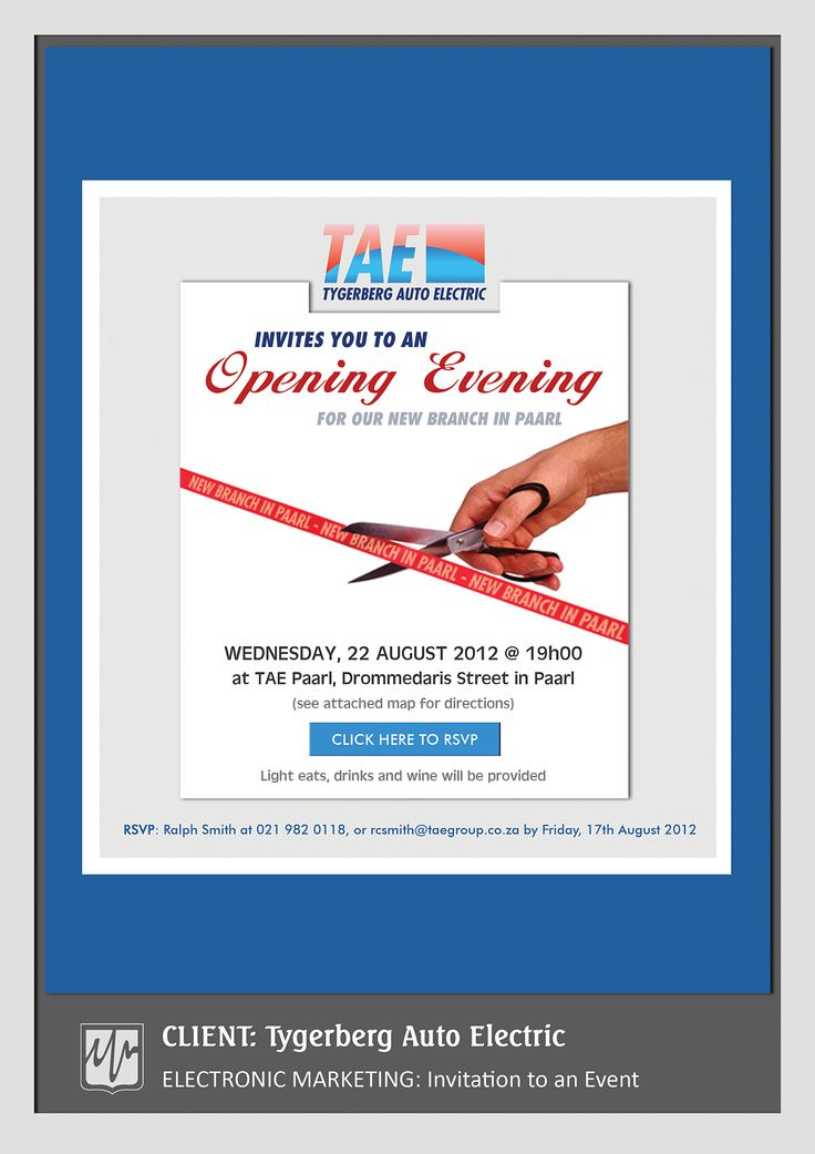ADVERTISING: Invitation