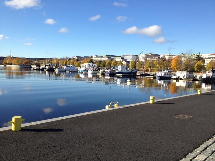 Satama, Lutakko, Jyväskylä, Finland. One part of Jyväskylä harbour. October 2012.