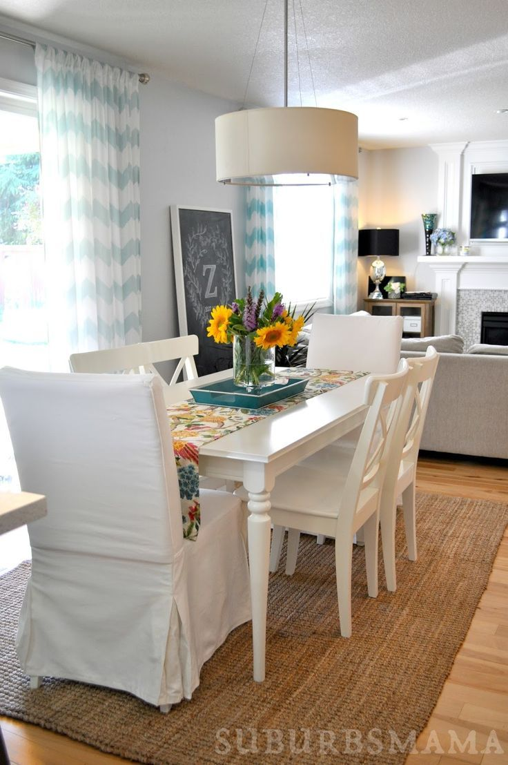Check out this classic white dining room