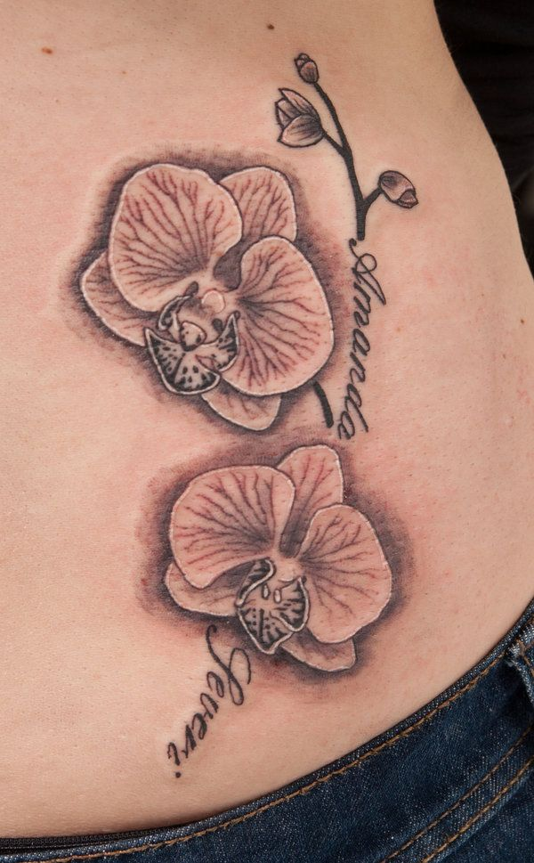Orchid tattoos designs :