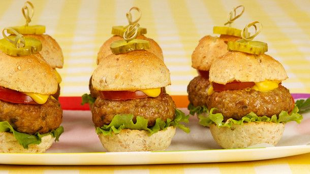 Mini Turkey Cheeseburgers