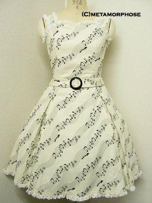 Metamorphose temps de fille / Jumper Skirt / Melody Note JSK with Belt