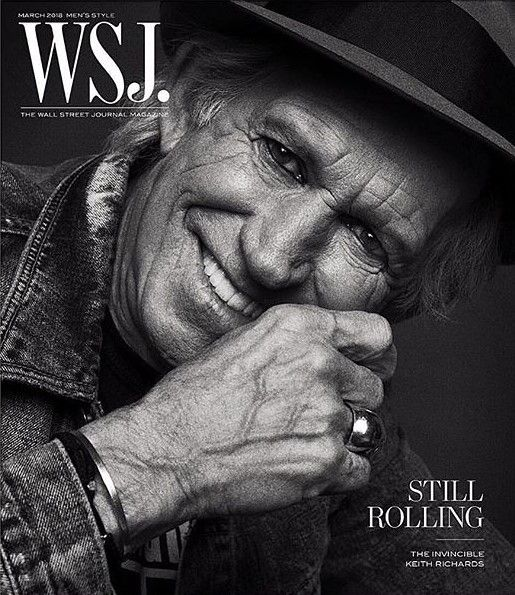 Keith Richards by Inez and Vinoodh for The Wall Street Journal Magazine March 2018