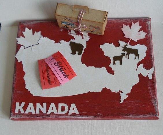 Keilrahmen Geldgeschenk Kanada | Kanada Geschenke | Bridal Shower