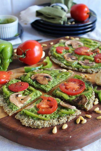 Raw Vegan Pizza  (no bake) www.EssentialLivingFoods.com