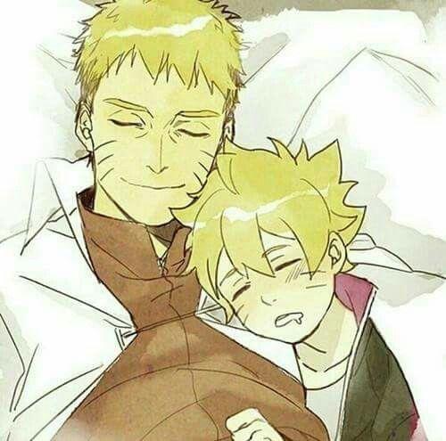 Naruto and Boruto.