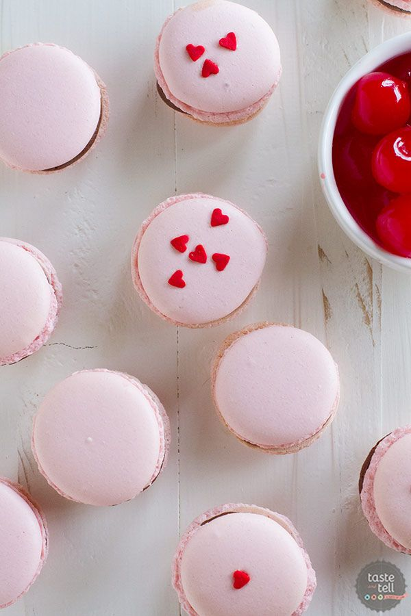 Chocolate Cherry French Macarons on Taste and Tell