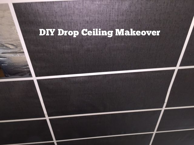 DIY Drop Ceiling Makeover                                                                                                                                                      More