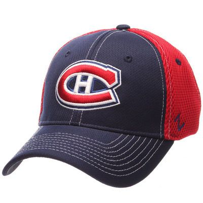 Montreal Canadiens Zephyr Rally Spacer Mesh Flex Hat - Navy/Red