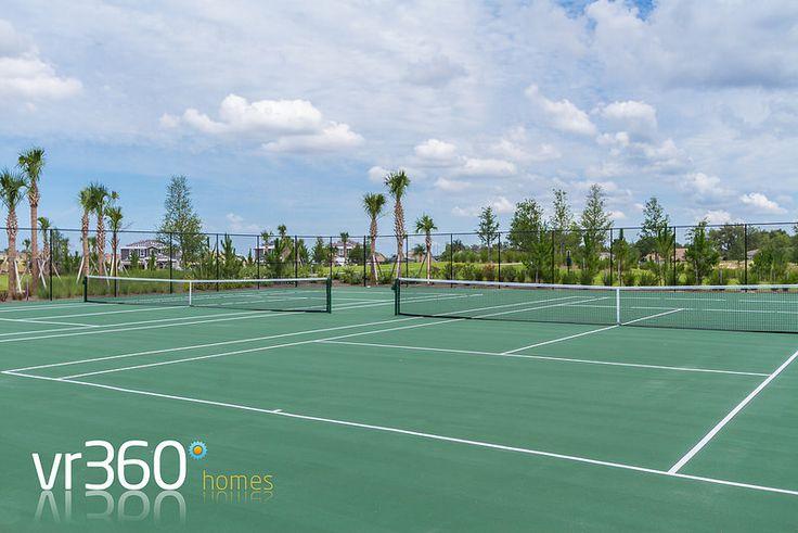 Solterra Resort Villa Rentals in Davenport, Florida - Clubhouse Tennis Courts. http://www.vr360homes.com/north-america/florida/disney-orlando-villas/solterra-resort/