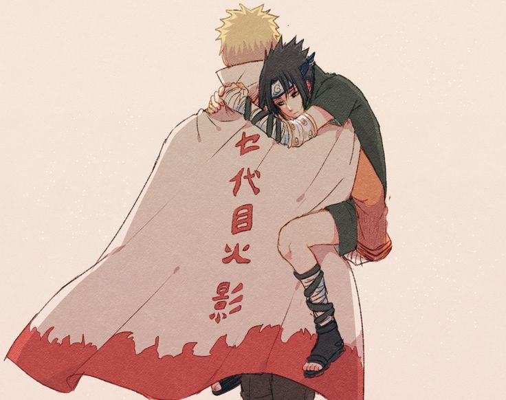 Hug with the Hokage <3 Naruto x Sasuke