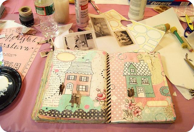 art journal in pink: Art Scrapbook, Art Journals, Art Pet, Cute Pet, Scrapbook Photo, Boys Pet, Art Rainbows, Beautiful Art, Girls Pet