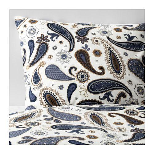 SÖTBLOMSTER Duvet cover and pillowcase(s), white, blue white/blue Full/Queen (Double/Queen)  For the master bedroom