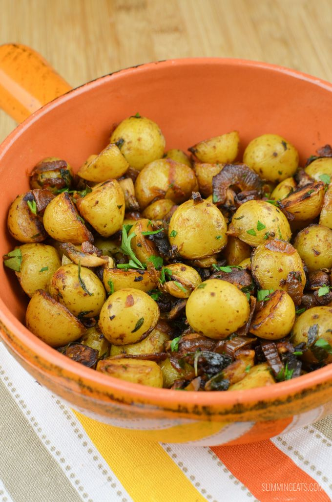 Slimming Eats Syn Free Breakfast Potatoes - gluten free, dairy free, paleo, Whole30, Slimming World and Weight Watchers friendly