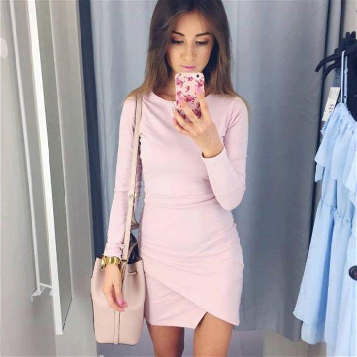 Fall 2017 Fashion Women Knitted Sexy Bodycon Culb Mini Dress Autumn Winter Casual Long Sleeve Party Dresses Plus Size FZ12 #FallFashion