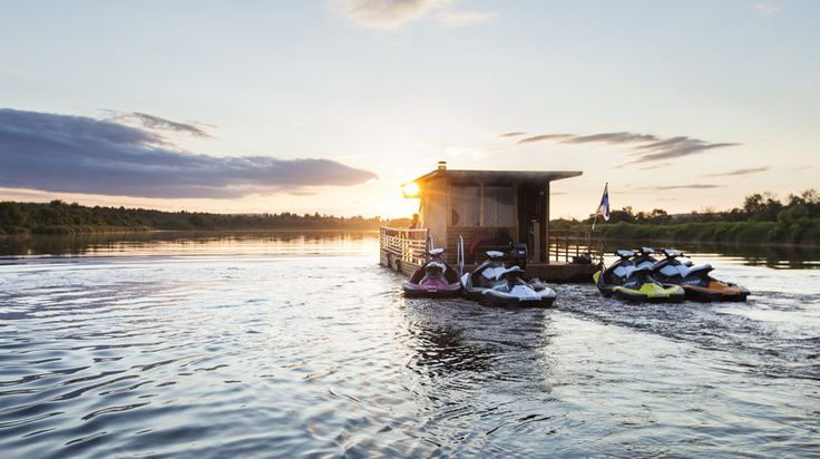 Sauna Raft m/s Erkin Arkki - Rovaniemi, Lapland, Finland