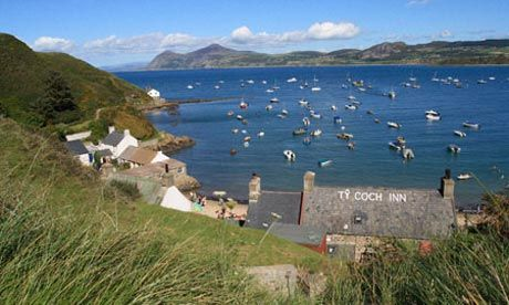 Driving the Welsh coast ... view of the Ty Coch Inn, Llyn peninsula. Photograph: Alamy