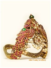 Antique ruby temple armlet Vanki.   To be worn on the upper arm.