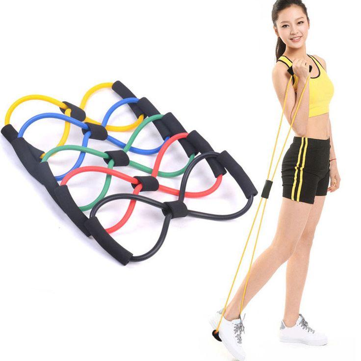 1 stücke 8 geformt elastische spannung langlebig seil expander yoga pilates sport fitness gürtel körper form gesundheitswesen zufällig farbe