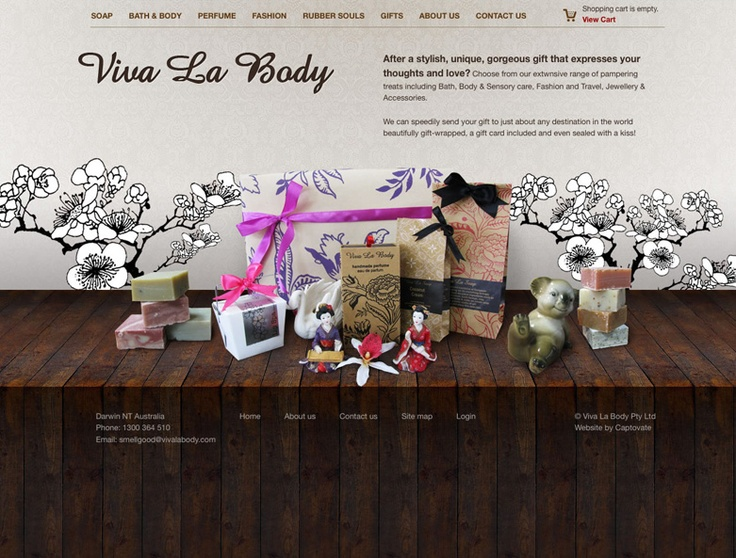 Shop Design. Viva La Body Website Design by Captovate, Darwin