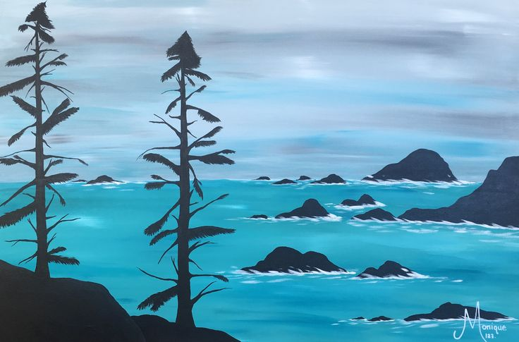 A Day on the West Coast. #glitzoncanvas