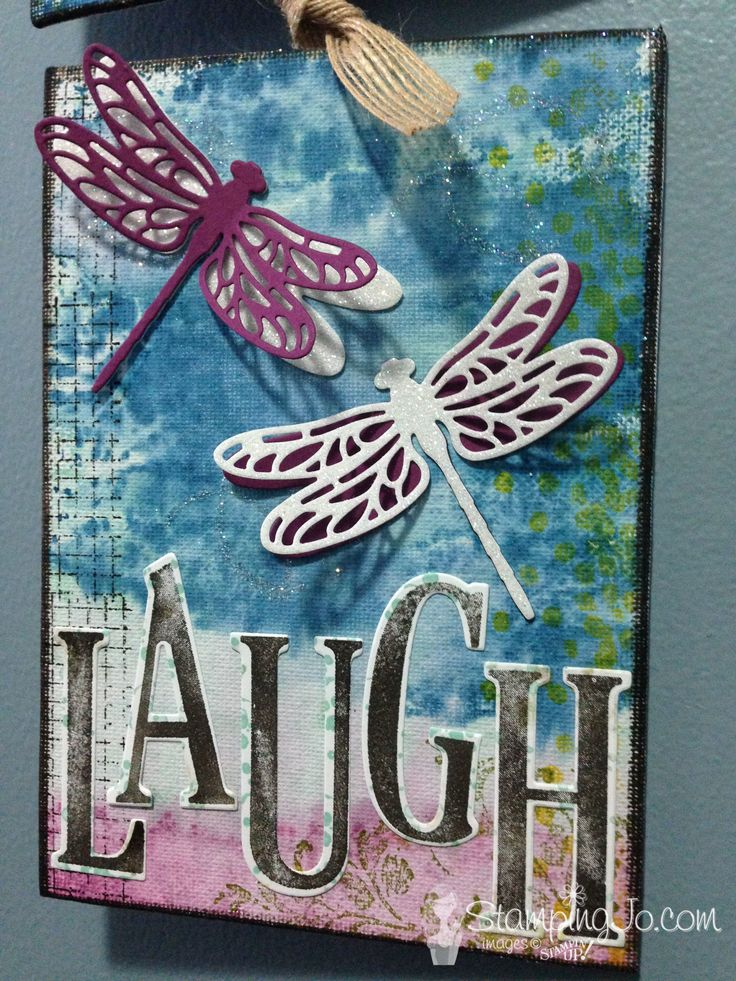 Detailed Dragonfly Thinlits, Dragonfly Dreams, Timeless Textures, Stampin Up, wall art, home decor, diy canvas wall decor