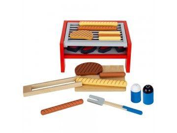 Barbecue jouet en bois avec accessoires