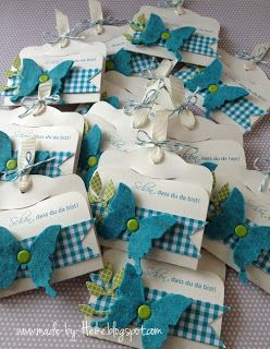 These would make cute party favors, and certainly a great treat cover for the Card Ministry volunteers! Meine kreative Welt...: Für die Gäste