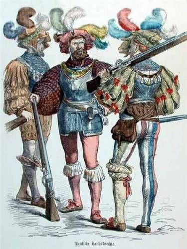 Ландскнехты - немецкие наемные солдаты средневековья - Мировая история