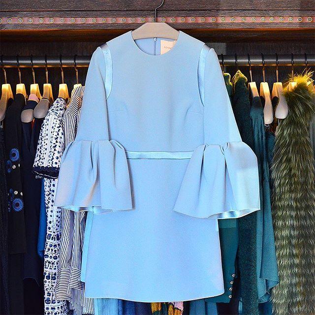 Roksanda Powder Blue Bell Sleeve Dress