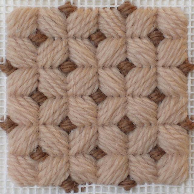 New to Needlepointing? Try These 56 Needlepoint Stitch Tutorials: Brighton Stitch
