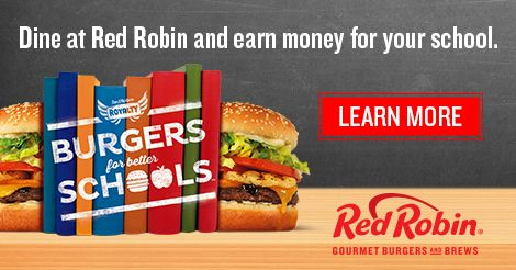 Did you know Red Robin gives back to local schools through the Red Robin Royalty Program? Support your local school