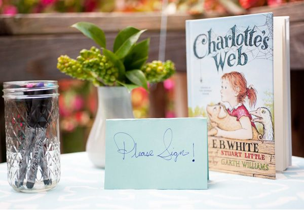 I love the idea of having guests sign a classic children's book at a baby shower... talk about a keepsake!