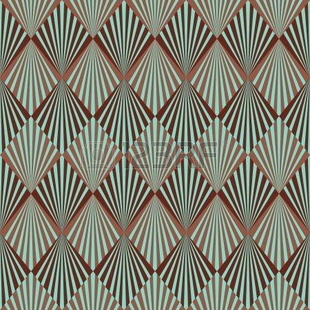 Art Deco stijl naadloze patroon textuur Stockfoto