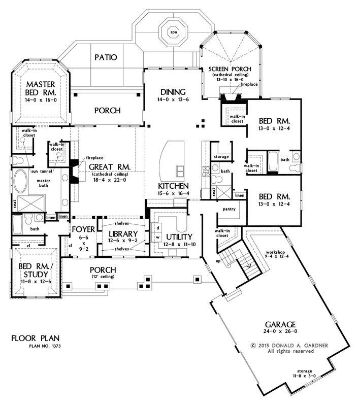 Perfect Don Gardner Floorplan The Ambroise House Plan #1373