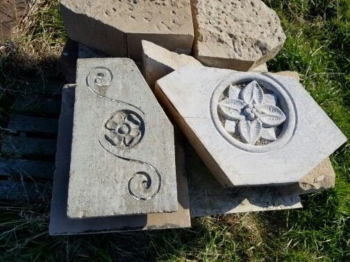 Carved stone from an old building.For sale 3199310274