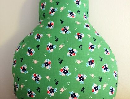 Green Floral Pear Cushion