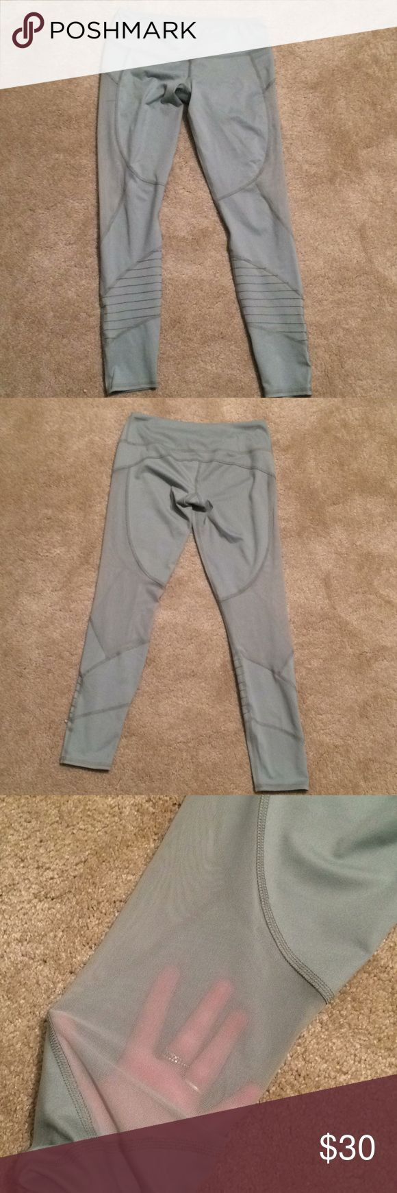 NWOT abercrombie & fitch mesh leggings these  abercrombie & fitch leggings have never been worn! my friend has the same pair and loves them, i just got too small of a size): these leggings have mesh and cool stitching which make them very unique and are a super fun shade of light green! ask me any questions and price is negotiable. i can model these upon request to see where the mesh falls etc. they just don't fit that well which is why i didn't post modeling Abercrombie & Fitch Pants…