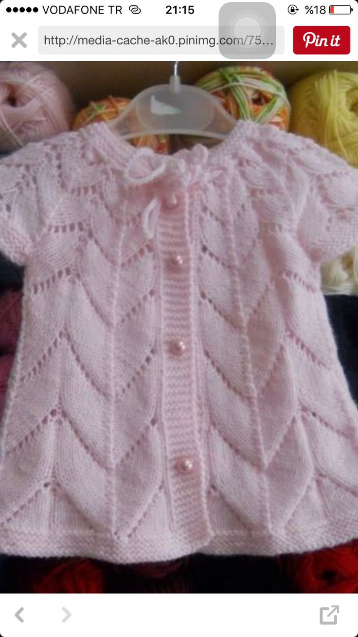Baby dress knitted