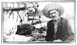 Portrait de Joshua Slocum, considéré à juste titre comme le père de la navigation en solitaire.