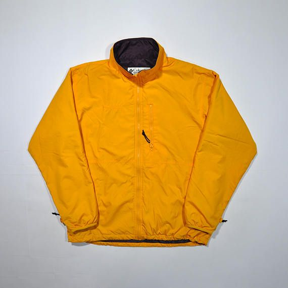 Rare Vintage 90s Colombia Windbreaker Xl Yellow Jacket Colombia