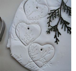 Christmas stamps are perfect for adding festive messages to your salt dough ornaments and gift tags, and you can use them year after year. Other options for decorating salt dough ornaments include pressing doilies onto the surface to create a wonderful textured finish.