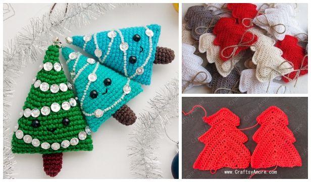 Crochet Mini Christmas Tree Ornament Free Crochet Patterns Crochet Patterns Crochet Tree Holiday Crochet