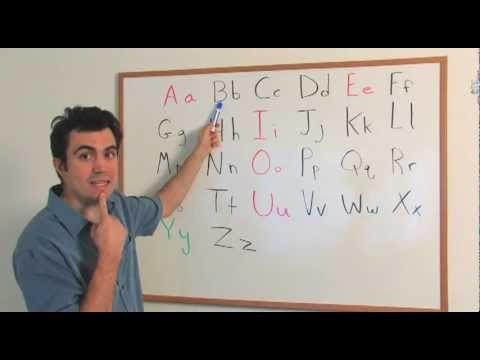 The English Alphabet (Beginner, Level 1)) - YouTube