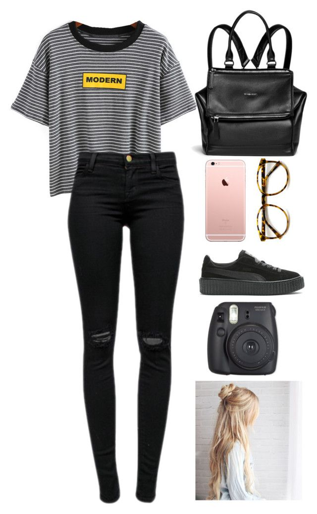 """""""Untitled #325"""" by zombiesalldaway on Polyvore featuring J Brand and Givenchy"""