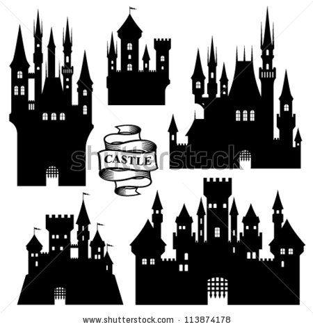 fairy tale castle silhouette   CASTLE VECTORS_Fairy-tale castle590 _Fairy-tale castle590 _Magic ...
