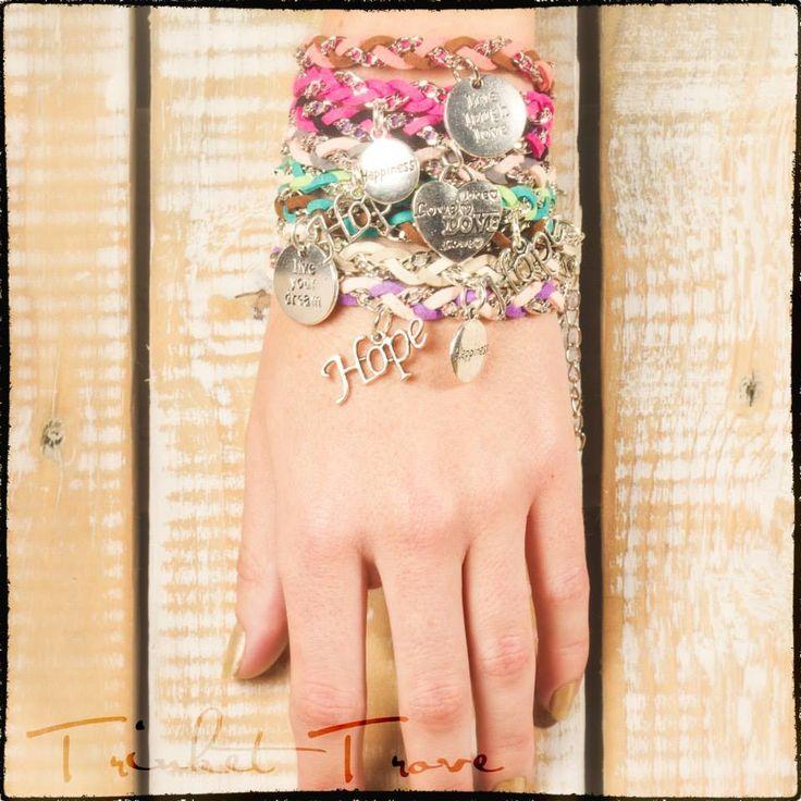 range of different Wrap Bracelets..