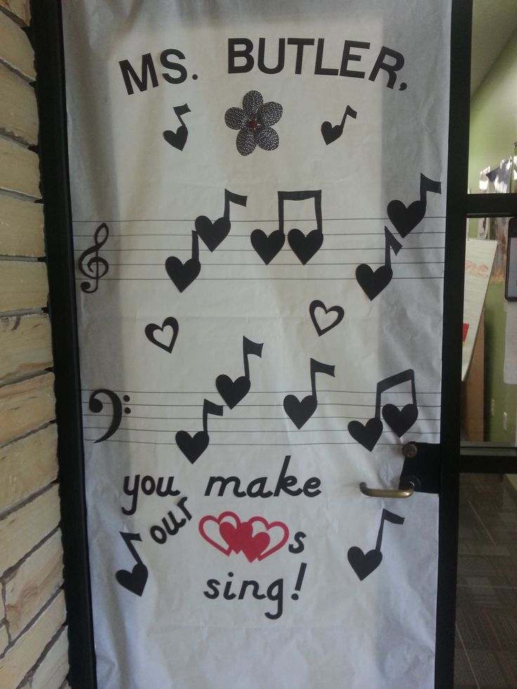 teacher appreciation door decoration for music teachers