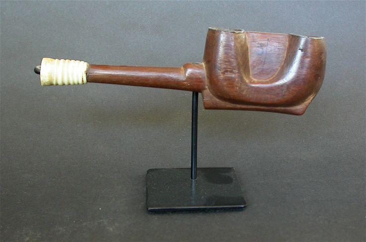Antique Xhosa Double Bowl Pipe South Africa not Zulu Bone Mouth Piece C 1910 | eBay