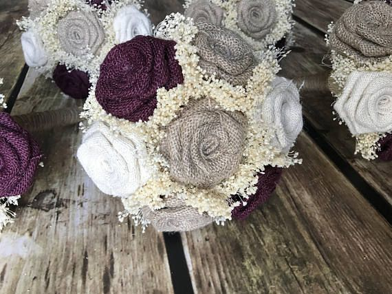 WineNatural & Ivory Small Bridesmaids Bouquets 1 bouquet